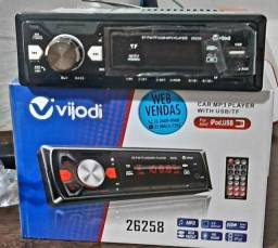 Título do anúncio: Radio Vijodi mp3 usb bluetooth e ipod saida digital ,