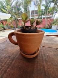 Vaso Xícara de Barro