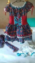 Vestido e camisa quadrilha junina
