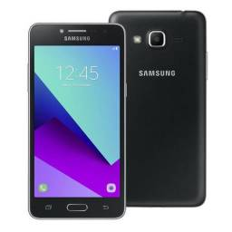 Celular J 2 Prime de cor preto R$ 280