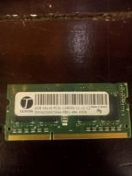 MEMÓRIA RAM DE 2GB PARA NOTEBOOKS OU PC's COM PLACA MÃE MINI
