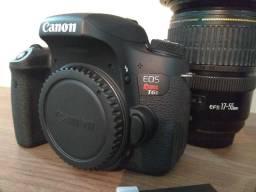 Câmera Canon T6s Lente Canon 17-55 F 2.8 Is Usm Lente Yongnuo 50 Mm F 1.8