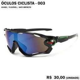 Usado, Óculos de Ciclismo 03 (Espelhado com Armação Preta e Detalhe Verde) comprar usado  João Pessoa