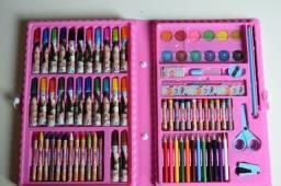 Brinquedo. Kit estojo escolar maleta de pintura disney , princesas , luna , avengers ,