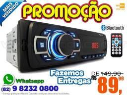 Som Automotivo Bluetooth FM SD - Fazemos Entregas