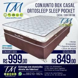 SLEEP POCKET CASAL , 25CM Molas Ensacadas! Frete Grátis! BRINDE 2 TRAVESSEIROS<br>
