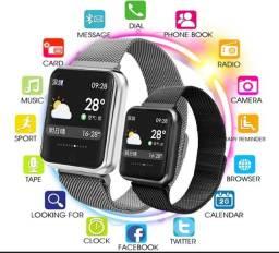 Promoção smart watch P68 PRO à prova d?àgua pronta entrega 2 pulseiras original