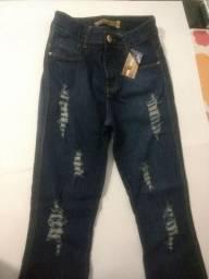 Calça Jeans Pantalona / Novo