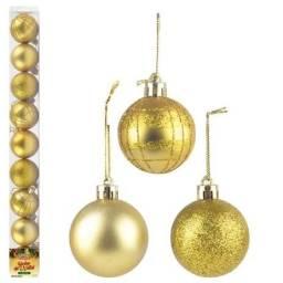 Título do anúncio: Bolas de Natal 5cm com 9 unidades