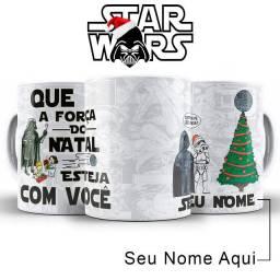 Caneca Natal Star Wars Personalizada Com Nome Presente