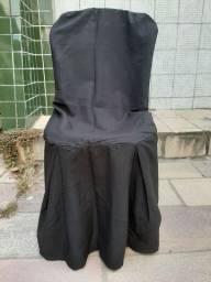 Capas de cadeira preta