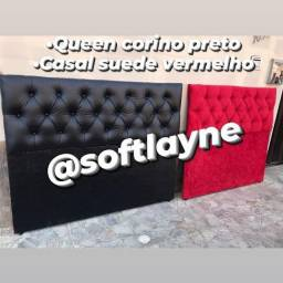 Cabeceira luxuosas fabricamos @softlayne frete é instalação grátis
