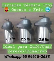 Garrafas Térmicas de Inox - ? Quente e Frio ? - Café/Chá/Tereré/Chimarrão