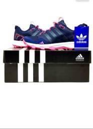 Tenis Adidas  Azul/ Rosa