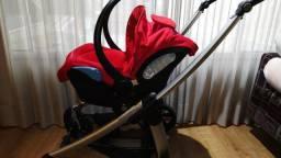 Conjunto para transporte do seu Bebê: Bebe Conforto + base + carrinho de bebe