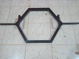 Musculação Barra Hexagonal  Crossfit Ginástica