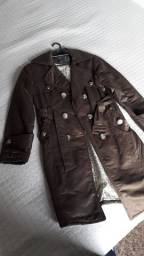 Casaco jaqueta marrom tam M