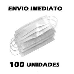 Kit 100 com Unidades Máscara Descartável Tripla C/ Filtro Branco