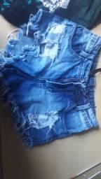 Título do anúncio: Vendo shorts jeans 6 por $40 REAIS