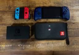 Título do anúncio: Nintendo switch azul e vermelho neon