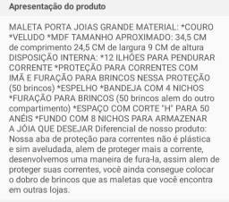 Título do anúncio: MALETA PORTA JOIAS GRANDE MATERIAL AVELUDADO NA PROMOÇÃO