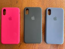 Título do anúncio: Case/ capinha/ Silicon case Original Apple para iPhone X. 3 Unidades