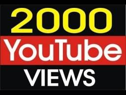 2000 visualizações vídeo youtube apenas R$ 40 + 700 de brinde o mais barato