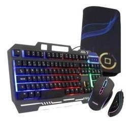 Título do anúncio: Combo Kit Gamer 3 em 1 Teclado Mouse Mousepad Durawell - Entrega Grátis