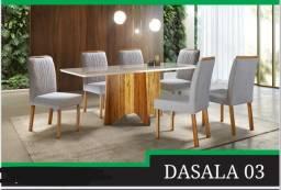 Título do anúncio: Mesa 1,60x90 6 cadeiras