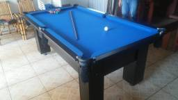 Mesa Charme de Redes Cor Preta Tecido Azul Mod. MVYJ1433