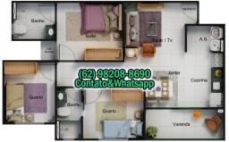 Título do anúncio: Apartamentos 2 e 3 Quartos com Varanda, Segurança e Lazer