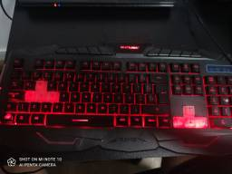 TECLADO GAMER MULTILASER E MOUSE GAMER