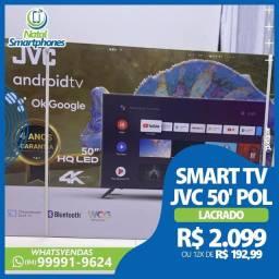 SMART TV JVC LED 50 POLEGADAS, CONVERSOR DIGITAL (LACRADO+4 ANOS DE GARANTIA)