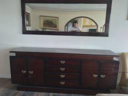 Balcão em mogno com espelho - Oportunidade