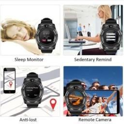 Relógio Assistente Digital Smart V8 Entrada de Chip Celular e Cartão