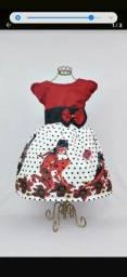 Vestido festa + Decoração Ladybug