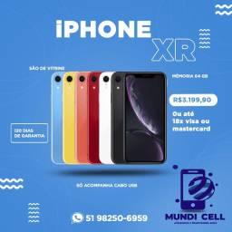 MUNDICELL / NOVO / IPHONE XR 64GB MOSTRUÁRIO APPLE ANATEL DESBLOQUEADO GARANTIA