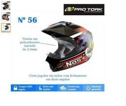 Capacete Para Motocross Top Helmet Vision 56 Th-1 Nos Pro Tork - CAP-282PT