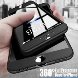 Capa 360 Graus Preta para iPhone 6 e 6s