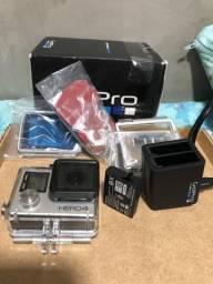 GoPro Hero 4 Silver + 2 baterias GoPro + Carregador GoPro