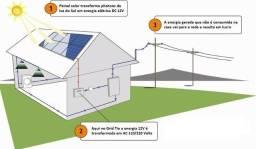 Um kit completo de Gerador fotovoltaico de 1440 Wp (1,44 kWp)