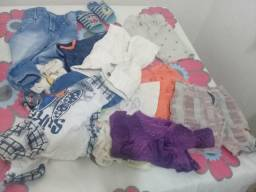 Vendo lote de roupa para menino de 1 ano