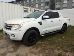 Vendo ou troco: Ford Ranger Limited 13/14 4x4 Top Plus branca impecável, abaixo da Fipe - 2014