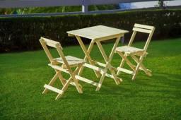 Jogo de mesa e 2 cadeiras dobraveis!!!Baixou !!!