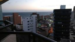 Aptº de 1/4 com varanda e vista mar na Barra