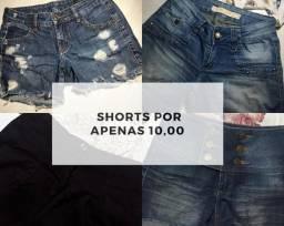 Shorts por apenas 10,00