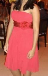 Vestido vermelho, curto para festas - usado