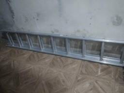 Escada 24 degraus de alumínio, dupla. 380$
