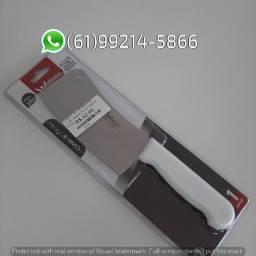 Cutelo C/Cabo Branco 28,5cm Prime Wellmix Aço Inox Compra Facil