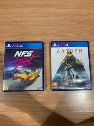 Jogos Ps4: Need For Speed Heat e Anthem